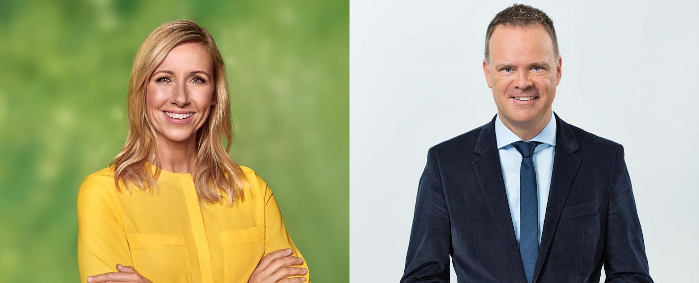 Andrea Kiewel und Christian Sievers – Bild: ZDF/Marcus Höhn/Jana Kay