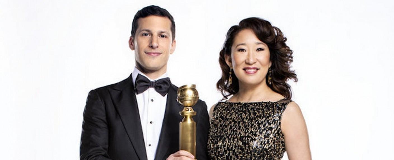 Andy Samberg und Sandra Oh als Moderatoren der 76. Golden Globes Awards – Bild: HFPA