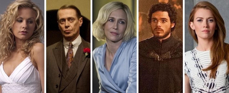 V.l.: Anna Paquin, Steve Buscemi, Vera Farmiga, Richard Madden und Mireille Enos – Bild: HBO, HBO, A&E, HBO, ABC
