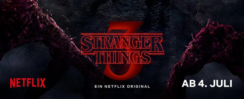 """Ausschnitt aus dem Poster zur dritten Staffel von """"Stranger Things"""" – Bild: Netflix"""