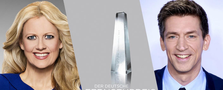 """Barbara Schöneberger und Steffen Hallaschka führen durch den """"Deutschen Fernsehpreis 2019"""" – Bild: WDR/NDR/Morris Mac Matzen/ Deutscher Fernsehpreis/ imago/Future Image"""