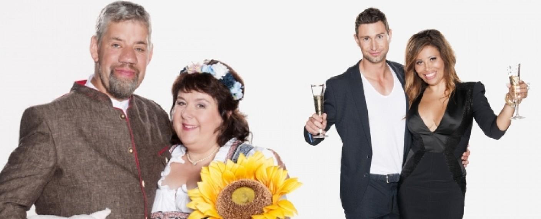 """Bauer Uwe Abel und seine Gattin Iris (l.) ziehen genauso ins """"Sommerhaus"""" wie Patricia Blanco und Nico Gollnick (r.) – Bild: RTL/Stefan Menne"""