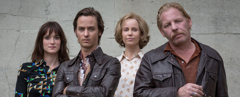 """Der gleiche Himmel"": Friederike Becht (Sabine Cutter), Tom Schilling (Lars Weber), Sofia Helin (Lauren Faber), Ben Becker (Ralf Müller) – Bild: ZDF / erik lee steingroever"