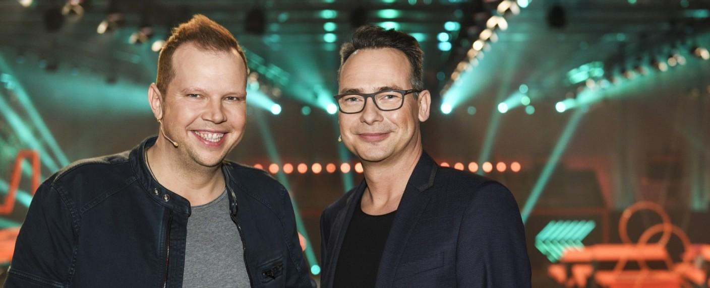 """Big Bounce"": Wolff-Christoph Fuss und Matthias Opdenhövel – Bild: MG RTL D / Markus Hertrich"