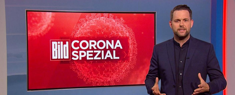 "Das ""BILD Corona Spezial"" mit Matthias Killing – Bild: BILD/Sat.1"