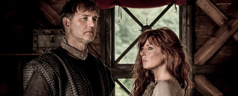 "Feldherr Aulus (David Morrissey) und Kerra (Kelly Reilly) in ""Britannia"" – Bild: Stanislav Honzik/Sky"
