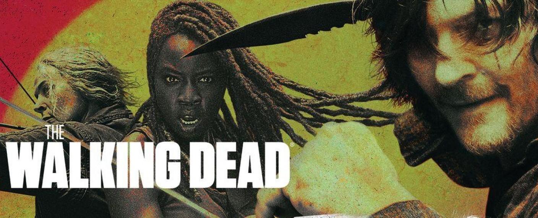 """Carol, Michonne und Daryl kämpferisch in der Key-Art zur zehnten Staffel von """"The Walking Dead"""" – Bild: FOX"""