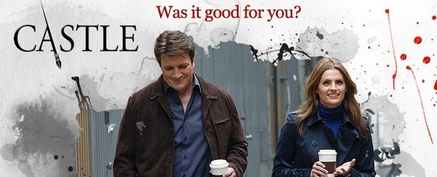 "Richard Castle (Nathan Fillion) und Kate Beckett (Stana Katic) in ""Castle"" – Bild: ABC"