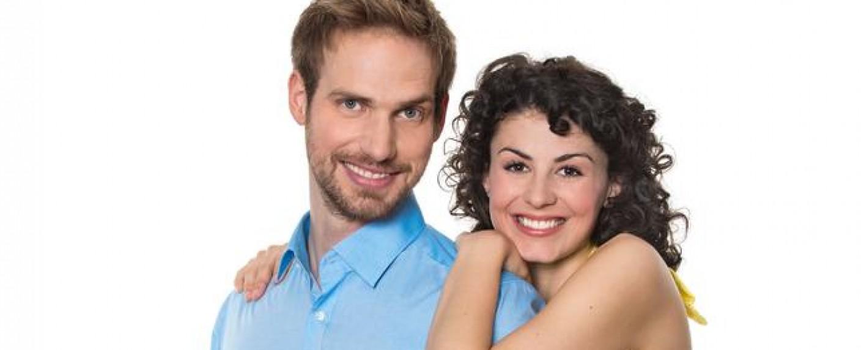 Christian Feist und Liza Tzschirner sind das Traumpaar der neunten Staffel – Bild: ARD/Ralf Wilschewski