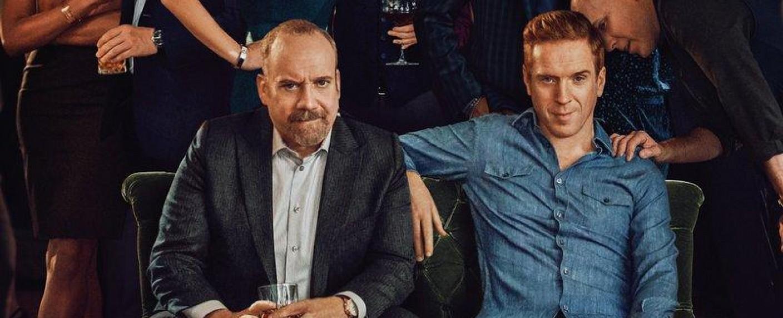 """Chuck Rhodes (Paul Giamatti) und Axe (Damian Lewis) in der vierten Staffel von """"Billions"""" – Bild: Showtimes"""