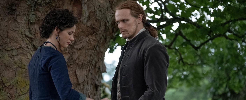 Claire (Caitriona Balfe) und Jamie (Sam Heughan) – Bild: Starz