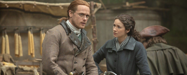Jamie (Sam Heughan) und Claire (Caitriona Balfe) – Bild: Starz