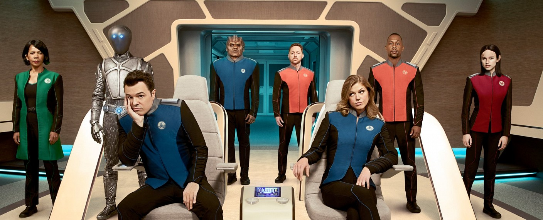 """""""The Orville"""" – Symbolbild: Captain Mercer (Seth MacFarlane) hat ein gespanntes Verhältnis zu seiner Exfrau Kelly Grayson (Adrianne Palicki) – Bild: FOX"""