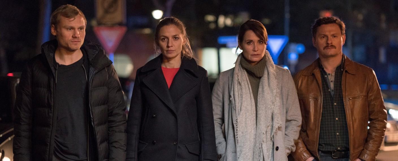 """""""Das Quartett"""": Anton Spieker, Annika Blendl, Anja Kling und Shenja Lacher (v.l.n.r.) – Bild: ZDF/Oliver Vaccaro"""