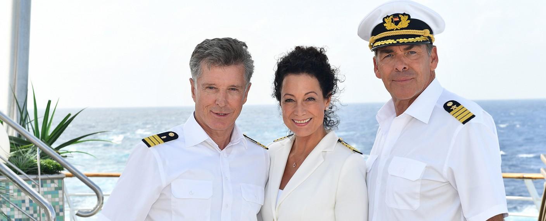 """""""Das Traumschiff"""": Nick Wilder, Barbara Wussow und Sascha Hehn – Bild: ZDF/Dirk Bartling"""