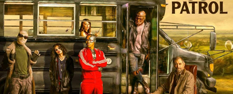 """Die Protagonisten von """"Doom Patrol"""": Larry Trainor, Crazy Jane, Rita Farr, Victor Stone, Cliff Steele und Dr. Niles Caulder – Bild: DC Universe"""