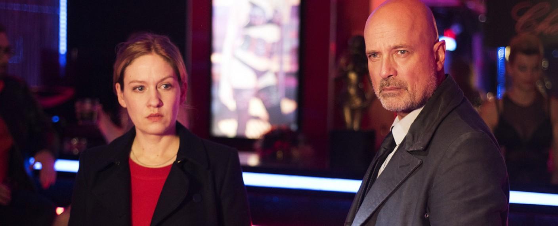 """""""Der Kriminalist"""": Schumann (Christian Berkel) und Esther Rubens (Anna Blomeier) ermitteln zum letzten Mal gemeinsam – Bild: ZDF/Oliver Feist"""