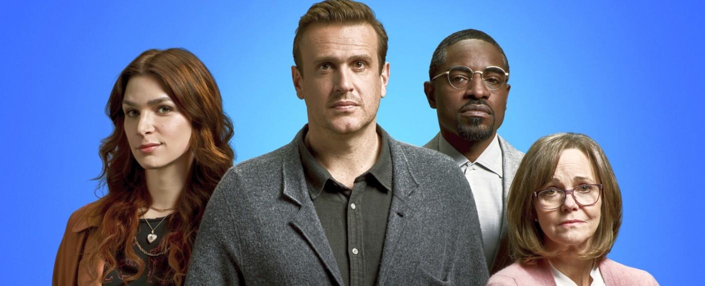 """Die Hauptdarsteller von """"Dispatches from Elsewhere"""": Eve Lindley, Jason Segel, André Benjamin und Sally Field – Bild: AMC Studios"""