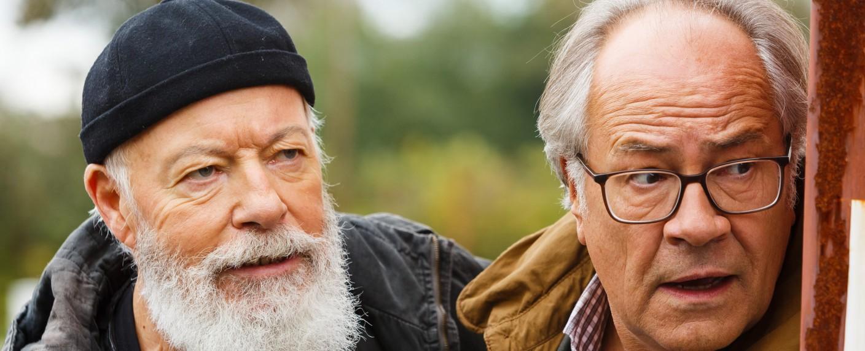 """Die neuen """"Rentnercops"""" sind Bill Mockridge (l.) und Hartmut Volle (r.) – Bild: ARD/Kai Schulz"""