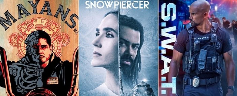 """Die Neustarts im Mai 2020 umfassen """"Mayans MC"""", """"Snowpiercer"""" und """"S.W.A.T."""" – Bild: FX/TNT/CBS"""