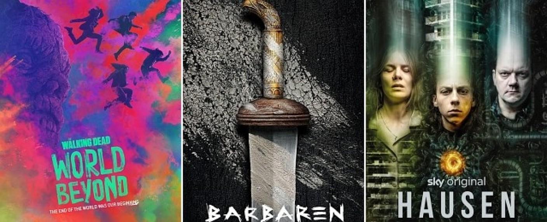 """Die Serien """"The Walking Dead: World Beyond"""", """"Barbaren"""" und """"Hausen"""" starten im Oktober 2020 – Bild: Prime Video/Netflix/Sky Deutschland"""