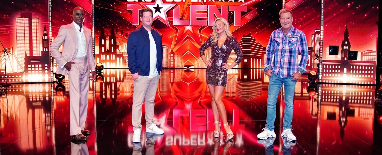 """Die """"Supertalent""""-Jury 2020: Bruce Darnell, Chris Tall, Evelyn Burdecki und Dieter Bohlen (v. l. n. r.) – Bild: TVNOW/Stefan Gregorowius"""