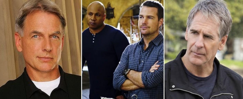 """Die vier Hauptdarsteller des """"Navy CIS""""-Franchise: Mark Harmon (l.), LL Cool J und Chris O'Donnell (M.) und Scott Bakula (r.) – Bild: CBS"""