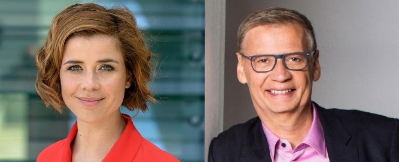 Eva-Maria Lemke und Günther Jauch – Bild: rbb/Thomas Ernst/TVNOW/Thomas Pritschet