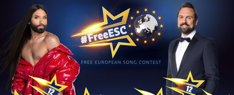 """Conchita Wurst und Steven Gätjen moderieren den """"Free European Song Contest"""" – Bild: ProSieben/Sven Doornkaat/Benedikt Mueller"""