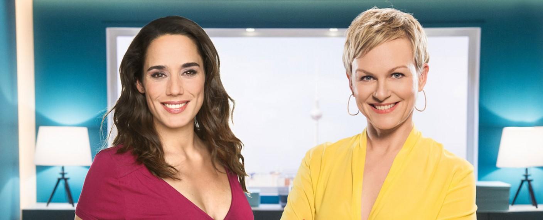 """""""Frühstücksfernsehen Hautnah – Die Vormittags-Show"""" mit Simone Panteleit (l.) und Karen Heinrichs (r.) – Bild: Sat.1"""