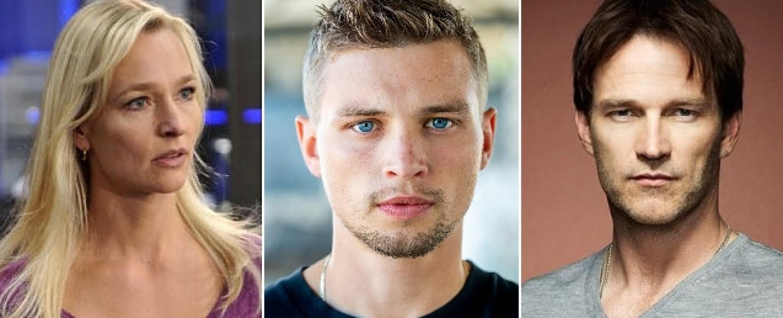 """Gehören zum Hauptcast von """"Fortunate Son"""": Kari Matchett (l.), Darren Mann (m.) und Stephen Moyer (r.) – Bild: HBO/USA/IMDB"""