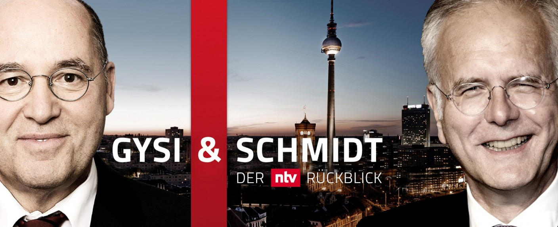 Gregor Gysi und Harald Schmidt machen wieder Halbjahresrückblick – Neue Ausgabe der pointierten Bilanz bei ntv – Bild: TVNOW