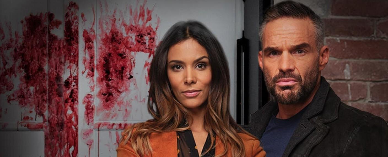 """Hauptdarsteller-Duo in Staffel zehn von """"Profiling Paris"""": Shy'm als Elisa Berckman und Philippe Bas als Thomas Rocher – Bild: TF1"""