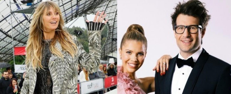 Heidi Klum (l.), Victoria Swarovski und Daniel Hartwich – Bild: ProSieben/Richard Hübner/TVNOW/Nadine Dilly