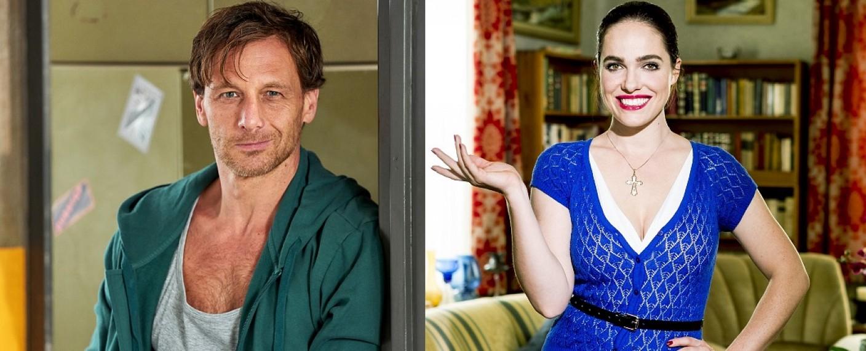 """Hendrik Duryn (""""Der Lehrer"""") und Verena Altenberger (""""Magda macht das schon!"""") – Bild: MG RTL D/Frank Dicks/Gordon Muehle"""