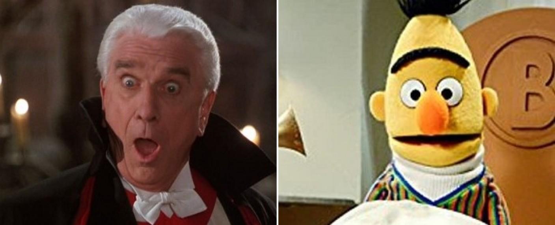 """Host Schön lieh unter anderem Leslie Nielsen (hier in """"Dracula – Tot aber glücklich"""") und Bert aus der """"Sesamstraße"""" die Stimme – Bild: Castle Rock Entertainment; Sesame Workshop"""