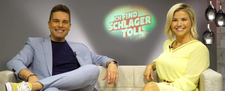 """Eloy de Jong und Beatrice Egli moderieren """"Ich find Schlager toll"""" – Bild: TVNOW/Screenshot"""