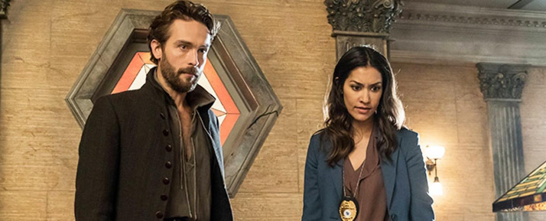 """Ichabod Crane (Tom Mison) und Diana Thomas (Janina Gavankar) in der vierten Staffel von """"Sleepy Hollow"""" – Bild: FOX"""