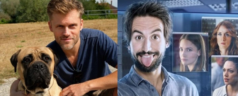 """Jens Atzorn und Bullmastiff Rocky sind """"Der Bulle und das Biest"""", Tom Beck ist """"Einstein"""" – Bild: Sat.1/Bernd Schuller/Martin Bauendahl"""