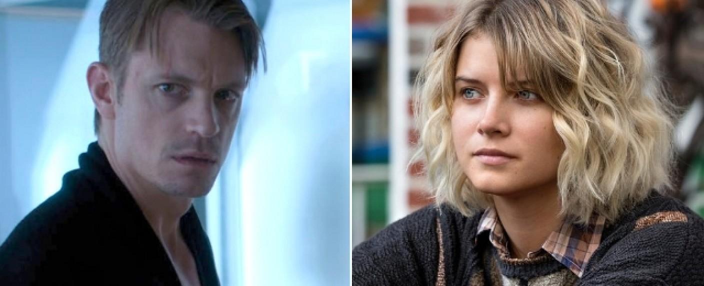 Joel Kinnaman (l.) und Sarah Jones (r.) gehören zum Hauptcast der neuen Apple-Serie – Bild: Netflix/Hulu