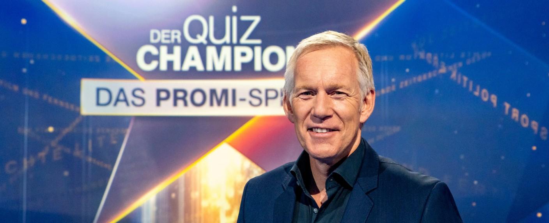 """Johannes B. Kerner moderiert """"Der Quiz-Champion – Das Promi-Special"""" – Bild: Max Kohr/ZDF"""
