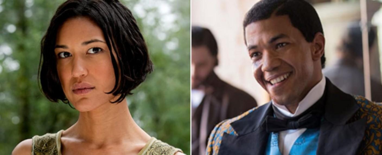 """Julia Jones (l.) und Alano Miller (r.) verstärken den Hauptcast von """"Dexter"""" – Bild: Summit Entertainment/WGN America"""