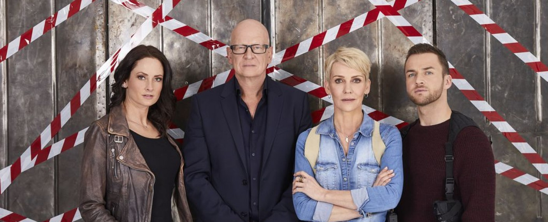 """""""K 11 – Die neuen Fälle"""": (v. l.) Daniela Stamm, Michael Naseband, Alexandra Rietz und Philipp Stehler – Bild: Sat.1"""