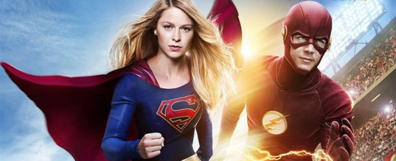 """Key-Art zum Crossover von """"Supergirl"""" und """"The Flash"""" – Bild: CBS"""