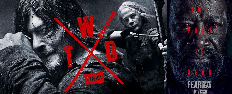 """Key Arts von """"The Walking Dead"""" Staffel 10 und """"Fear the Walking Dead"""" Staffel 6 – Bild: AMC"""