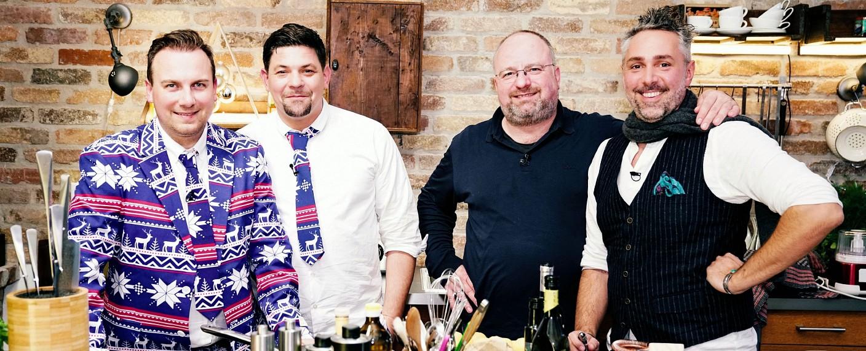 """""""Kitchen Impossible – Die Weihnachts-Edition"""" mit Tim Raue, Tim Mälzer, Christian Lohse und Roland Trettl – Bild: MG RTL D / Stefan Gregorowius"""