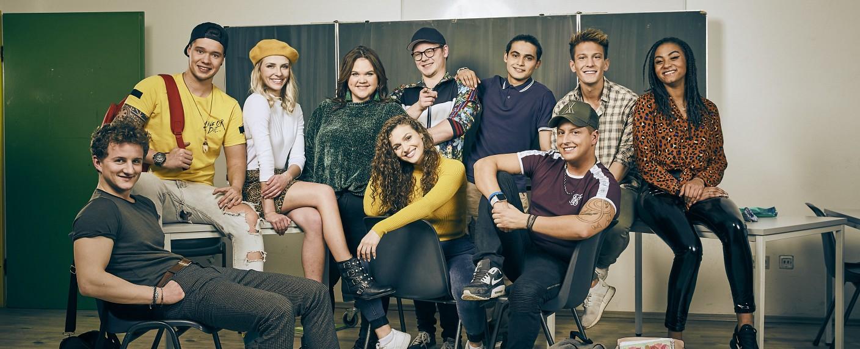 """Krass Schule"": Leonard, Marvin, Shayenne, Rosa, Carmen, Tobias, Rocco, Lucas, Felix und Alexa – Bild: RTL II"