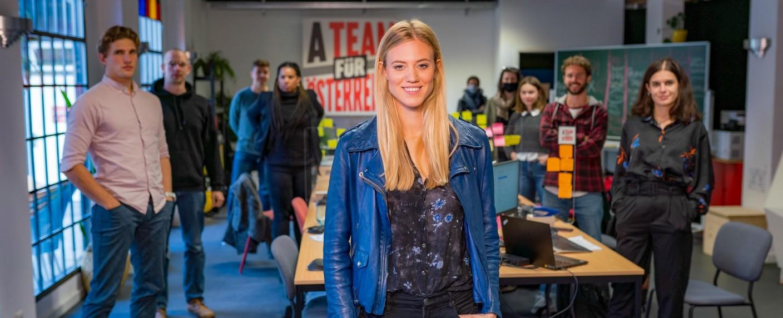 """Larissa Marolt und das """"A Team für Österreich"""" – Bild: ORF/Roman Zach-Kiesling"""