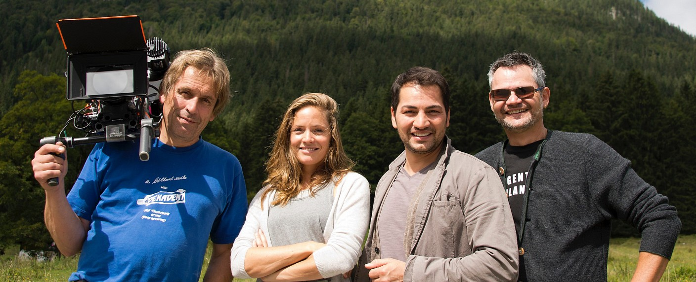 """Lena Lorenz"": Stefan Spreer (Kamera), Patricia Aulitzky, Bülent Sharif und Michael Kreindl (Regie) – Bild: ZDF"