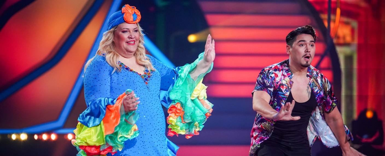 """""""Let's Dance"""": Ilka Bessin und Erich Klann legten eine flotte Salsa aufs Parkett – Bild: TVNOW/Stefan Gregorowius"""